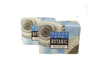 (Ocean Pur) - Greenwich Bay Trading Company Set of Two 310ml Shea Butter Soap Bars (Ocean Pur)