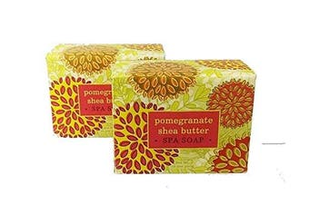 (Pomegranate) - Greenwich Bay Trading Company Set of Two 310ml Shea Butter Soap Bars (Pomegranate)
