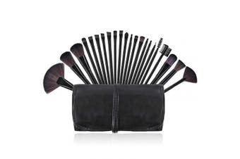 (Black) - Makeup Brushes, Premium Makeup Brushes Set Black 22 Piece Complete Cosmetic Brush Collection for Foundation Blending Power Blush Eyeshadow