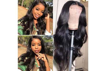 (46cm , body wave wig) - Body Wave Wig Swiss Lace Wig 100% Unprocessed Brazilian Virgin Human Hair Wigs 46cm 150% Density Glueless Pre Plucked Lace Front Wigs With Baby Hair