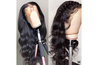 (60cm , body wave wig) - Coisini Hair 13x 4 Body Wave Lace Front Human Hair Wigs, Unprocessed Brazilian Virgin Hair Free Part Wig with Baby Hair 150% Density Natural Colour (60cm )