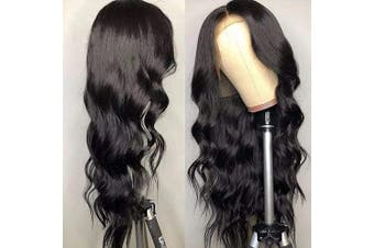 (46cm , 360 Body Wave Wig) - 360 Lace Frontal Wigs Body Wave Lace Front Wigs 180% Density 46cm Human Hair Wigs for Women Per Plucked Body Wave Wigs With Baby Hair
