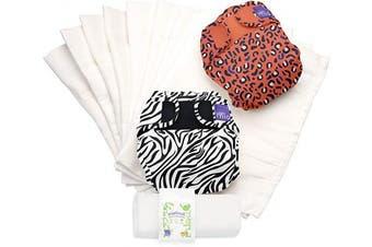 (Size 1 (<9kg), Safari Celebration B) - Bambino Mio, miosoft Reusable Nappy Set, Safari Celebration b, Size 1 (_9kgs),NS1 SAFB