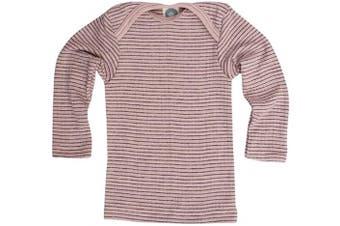 (16-24 Months (Height 34-36) (86/92), Pink/Plum/Natural) - Cosilana - Baby T-Shirt Long Sleeve, 45% Organic Cotton, 35% Organic Merino Wool, 20% Silk