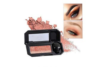 (02 Grapefruit Pumpkin) - Aaiffey Dual-Colour Eyeshadow, Waterproof Eyeshadow Highly Pigmented Eyeshadow with Exquisite Glitters and Smooth Texture, Long Lasting For Eye Makeup