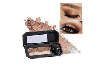 (04 Earth Tones) - Aaiffey Dual-Colour Eyeshadow, Waterproof Eyeshadow Highly Pigmented Eyeshadow with Exquisite Glitters and Smooth Texture, Long Lasting For Eye Makeup