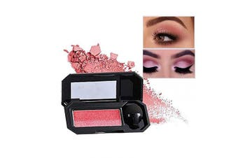 (01 Mermaid Peach) - Aaiffey Dual-Colour Eyeshadow, Waterproof Eyeshadow Highly Pigmented Eyeshadow with Exquisite Glitters and Smooth Texture, Long Lasting For Eye Makeup