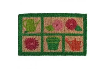 """(rectangle30"""" x 46cm ) - Imports Decor Printed Coir Doormat, Garden Tools, 18-Inch by 30-Inch"""