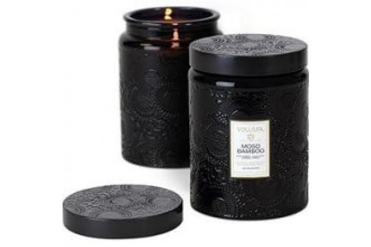 Voluspa Large Glass Jar Candle, Moso Bamboo, 470ml