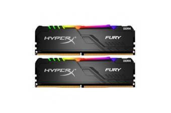 HyperX Fury RGB 16GB RAM (2 x 8GB) DDR4-3200MHz CL16 1.35V- Black HX432C16FB3AK2/16