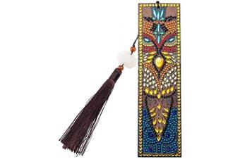 (Style F) - DIY Diamond Painting Bookmark Kits, Artscope Creative Leather Tassel Bookmark Art Craft 5D Special Shaped Crystal Rhinestones Bookmark for Kids Adults Beginner (Style F)