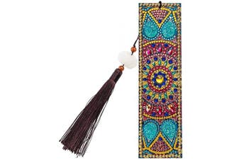 (Style C) - DIY Diamond Painting Bookmark Kits, Artscope Creative Leather Tassel Bookmark Art Craft 5D Special Shaped Crystal Rhinestones Bookmark for Kids Adults Beginner (Style C)