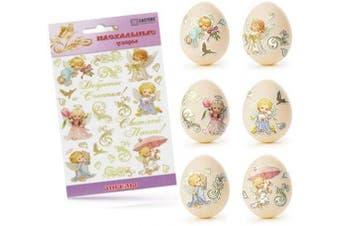 (Angel) - Ukrainian Stickers Easter Egg Decoration Pysanka Pysanky Set Easter Patterns (Angel)