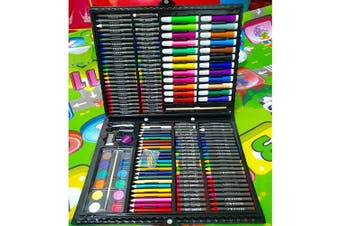 (168 PCS ART SET) - ADEPTNA 168 PCS JUMBO ARTIST SET - CHILDRENS COLOURING SET - INCLUDES A PORTABLE CARRY CASE PERFECT AS KIDS AND CHILDREN GIFT XMAS