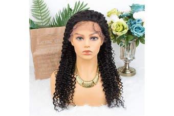 (50cm ) - ALLRUN Kinky Curly 13x 4 Lace Front Wigs Human Hair Wigs For Black Women Brazilian Remy Human Hair Wig 150% Density (50cm )