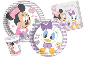 (Infant Minnie, 24 persone) - Ciao Y4215-Tableware & Daisy Baby Minnie 24 persons, Pink/White