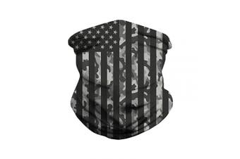 (black US flag) - PLAZALA Face scarf Seamless Multifunctional Headwear mouth Bandanas, Face Shields Headband Neck Gaiter For Dust Protection,Outdoors, Sports (black US flag)
