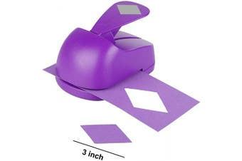 (Purple Rhombus) - Craft Lever Punch 7.6cm Triangle Punch DIY Handmade Paper Punch (Purple Rhombus)