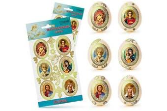 (Icons) - Ukrainian Stickers Easter Egg Decoration Pysanka Pysanky Set Easter Patterns (Icons)