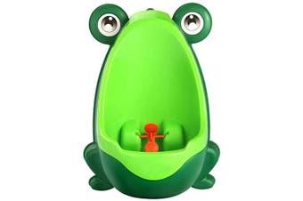 (Green) - Kid Baby Potty Toilet Training Cute Frog Shaped Bathroom Urinal Boys Pee Trainer (Green)