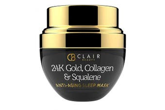 24K Gold, Collagen & Squalene Anti Ageing Sleep Mask - Firms & Lifts | Hydrates | Reduces Appearance Of Wrinkles, Fine Lines & Creases - 50mL