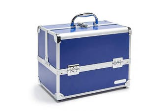 (Blue) - Caboodles Medium Train Case, Cosmetic Storage Case & Organiser