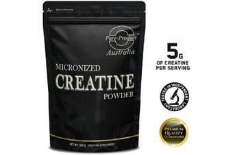 (Orange, 500 grammes) - Pure Product Australia Creatine Monohydrate Powder, Orange 500 grammes