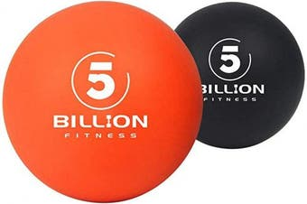 (smooth) - 5BILLION Massage Balls - Lacrosse Balls, Massage Tennis Balls, Stress Balls - Deep Tissue Massage Tool for Myofascial Release, Muscle Relax, Physical Therapy (smooth)
