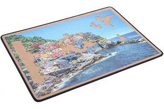 Becko Jigsaw Puzzle Board Portable Puzzle Mat for Puzzle Storage Puzzle Saver, Non-Slip Surface, Up to 1500 Pieces (Khaki)
