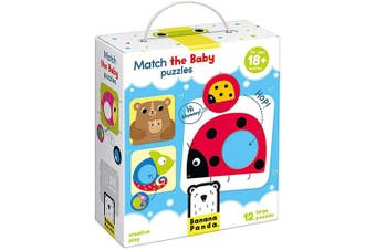Banana Panda Match The Baby Puzzle Set, Beginner Puzzles & Matching Activity For Kids Ages . Up, Multicolor, (Model: 33683)