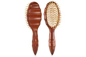 (Wooden Bristle) - Hair Brush, BESTOOL Wooden Hair Brushes for Women Men Kid, Detangler Brush for No-Pain Detangling All Wet or Dry Hair, Massage Scalp, Anti-static, Healthy Hair Growth