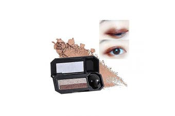 (05 Smoked Gold Brown) - Aaiffey Dual-Colour Eyeshadow, Waterproof Eyeshadow Highly Pigmented Eyeshadow with Exquisite Glitters and Smooth Texture, Long Lasting For Eye Makeup