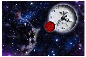 (cat-clock) - Cat diamond painting- 5d Diamond Painting Kits, Full Coverage, Round Rhinestone, DIY Tool Kit Art Supplies- Fun Gifts for Friends & Family,Adults & Children, Craftwork for Indoor Decor (cat clock,30cm x 41cm )