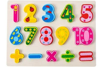 (Number) - Wooden Puzzles for Toddlers Numbers Puzzle Learning Board Toys for 2-5 Years Old Kids Toddlers