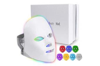 (7colors) - 7 Colours Light M-ask, Home Light T herapy Facial M-ask (7 Colours)