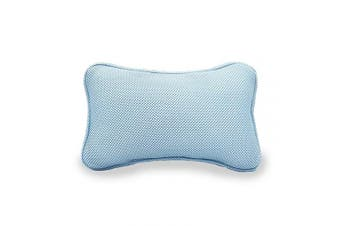 (blue) - Portable Bath Pillow Breathable Soft Easy to Use Fits Any Tub Nap Rest (blue)