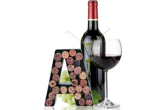 (Letter a) - Made Easy Kit Wine Cork Holder Decorative Metal Monogram Letter for Wine Corks - Easy Mount kit Included (Letter A, 18cm x 14cm x 5.1cm )