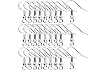Agreatca 80 Pcs(40 Pairs) 925 Sterling Silver Earring Hooks, Earring Parts Wire Hooks Jewellery DIY Making
