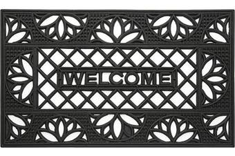 (Tulip) - Achim Home Furnishings WRM1830TP6 Tulip Wrought Iron Rubber Door Mat, 46cm by 80cm