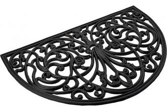 (Ironworks) - Achim Home Furnishings WRM1830IW6 Ironworks Wrought Iron Rubber Door Mat, 46cm by 80cm