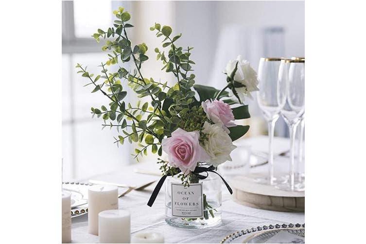 Pink S Ins Style Vase With Artificial Flower Set 1 Piece Fake Rose Berry Leaf Floral Flower Arrangement Glass Rose Pink S Kogan Com