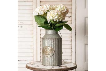 (Original version) - Vintage Industrial Farmhouse Chic Flowers and Plants Can with Handle (Does Not Come with Flowers)