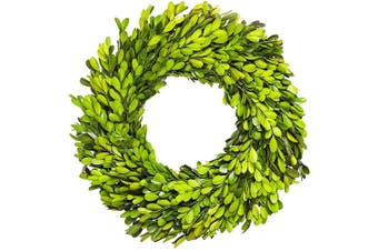 (28cm , Wreath) - BoxwoodValley Preserved Boxwood Wreath 28cm Green Garland for Indoor Easter Wreath Decor Stay Fresh for Years(Wreath, 28cm )