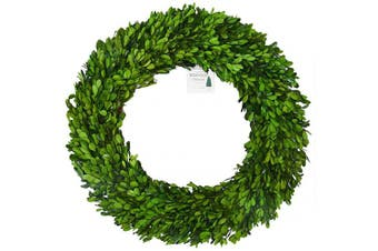 (60cm , Wreath) - BoxwoodValley 60cm XX-Large Boxwood Wreath, Wedding Home Decoration, Farmhouse Style Realistic Full Green Plant, Indoor Décor (Wreath, 60cm )