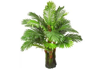 (3.28-ft Palm Tree) - 1m Artificial Palm Leaf Tree Plants Imitation Leaf Artificial Plant Green Greenery Plants Faux FakeTropical Large Palm Leaves Tree Outdoor UV Resistant Plants for Home Kitchen