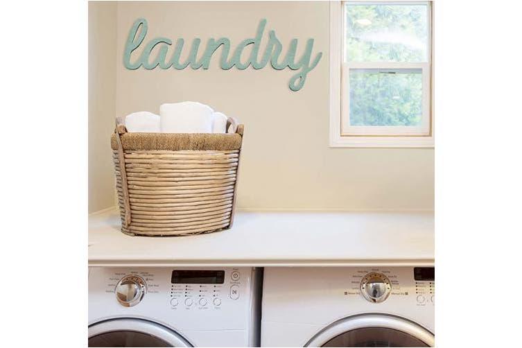 Stratton Home Decor Shd0255 Laundry Wall Art 23 00 W X 0 50 D X 8 50 H Blue Kogan Com