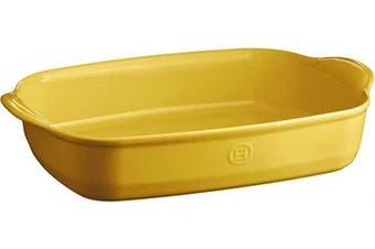 (Provence Yellow) - Emile Henry EH909654 Large Oven, Provence Yellow rectangular baking dish