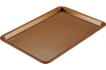 (28cm  x 43cm , Copper Brown) - Ayesha Curry 46999 Nonstick Bakeware, Nonstick Cookie Sheet / Baking Sheet - 28cm x 43cm , Copper Brown