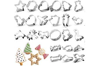(24 piece) - RUCKAE Cookie Cutters Set,24-Piece,Cartoon Cookie Cutters Biscuit Mould for DIY Baking Cake Craft Pastry Bakeware Decoration