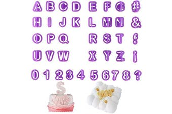 40Pcs Alphabet Number Symbol Cookie Cutters Set, Plastic Baking Decorating Pastry Biscuit Cake Fondant Pancake Stamps Mould, A More Fun Cookie to Children